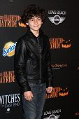 LOS ANGELES - OCT 10:  David Mazouz at the 8th Annual LA Haunted Hayride Premiere Night at Griffith Park on October 10, 2013 in Los Angeles, CA