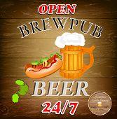 Best traditional fresh cold Beer.Brewpub menu.