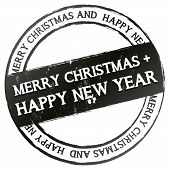 New Stamp - Merry Christmas + happy new year
