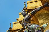 Giant Temple Wat Phra Kaew Bangkok Thailand