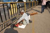 KOLKATA - NOVEMBER 28: Streets of Kolkata. Thousands of beggars are the most disadvantaged castes li
