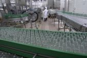 foto of factory-worker  - interior of food industry production of beverages