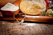 picture of bakeshop  - Dough background - JPG