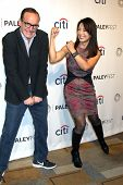LOS ANGELES - MAR 23:  Clark Gregg, Ming-Na Wen at the PaleyFEST 2014 -