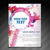vector modern brochure flyer poster template