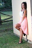 Fashion Woman At Ranch