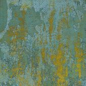 Green Yellow 3D Abstract Grunge Paint Layer Wall