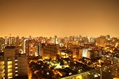 Nightly Panorama Of Santiago De Chile