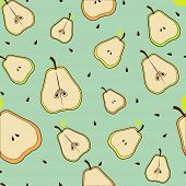 Pear beautiful seamless background