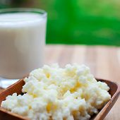 picture of tibetan  - probiotic kefir drink made of milk and tibetan mushroom grains