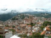 stock photo of taxco  - Ariel view of the city of Taxco - JPG