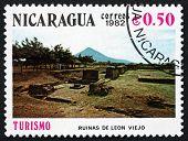 Postage Stamp Nicaragua 1982 Ruins, Leon Viejo