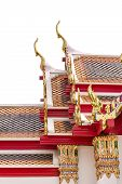 stock photo of gable-roof  - Thai style Roof with gable apex on the top - JPG
