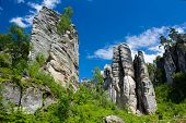 stock photo of bohemia  - Famous rocks in Bohemia paradise in Czech republic - JPG