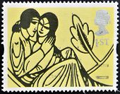 stamp shows Decoration from 'All the Love Poems of Shakespeare'