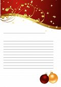 stock photo of seasons greetings  - Empty paper for Christmas greeting - JPG