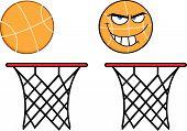 Basketball On Rim  Collection Set