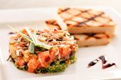 stock photo of tatar  - salmon tartare - JPG