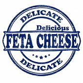Delicate feta cheese