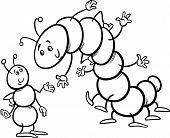 Ant And Caterpillar Coloring Page