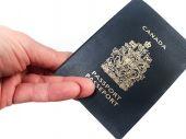 Holding a passport