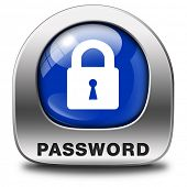 password protected button data protection by using strong safe passwords recover and change for security and safety
