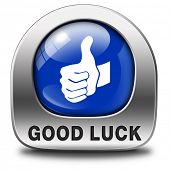 good luck icon or fortune button, best wishes wish you the best of luck