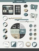 stock photo of bubble sheet  - Info graphics flat collection - JPG