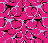 glasses seamless pattern retro sunglasses. vector abstract background