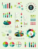 foto of flask  - Flat infographic collection of charts - JPG