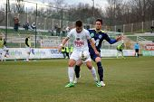 KAPOSVAR, HUNGARY - MARCH 16: Firtulescu Dragos Petrut (white 10) in action at a Hungarian Champions