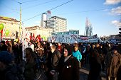 Thousands Are Demonstrating Peaceful Against Cutting Of Social Spenditures In Vienna