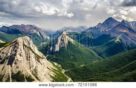 Mountain Range Landscape View In