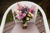Wedding Bouquet With Rose And Lavender