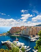 Fontvieille, District Of Monaco. Panoramic View Of Marina