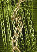 Dollar Symbol Chain 3D