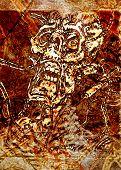 Grunge Scribble Living Dead Horror