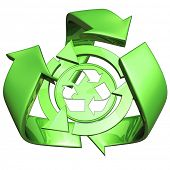 Recycle Symbol 3D
