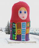 Tied with matryoshka. Krasnoyarsk