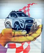Street art Montreal car