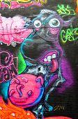 Street art Montreal funny cow