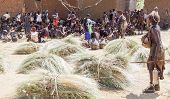 Hamar People At Village Market.