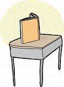 Single Blank Book On Desk