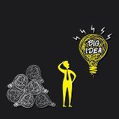 men think big idea concept vector