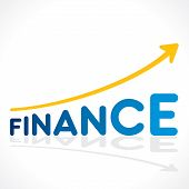 creative business finance growth graph design concept vector