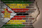 Dark Brick Wall With Plaster - Zimbabwe