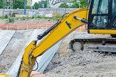 Excavator On The Excavation