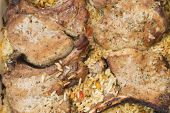 picture of brisket  - Pork brisket baked with rice and vegetables - JPG