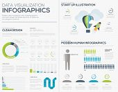 Business startup infographic vector illustration collection set