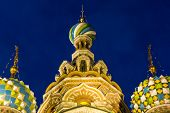 Three domes of Church of the Savior on Blood